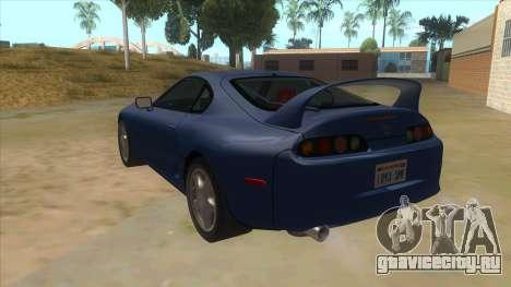 Toyota Supra Tunable для GTA San Andreas вид сзади слева