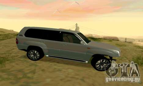 Toyota Land Cruiser 100 для GTA San Andreas вид сзади