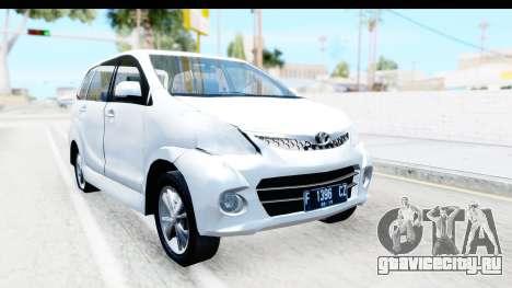 Toyota Avanza Veloz 2012 v1.1 для GTA San Andreas вид справа