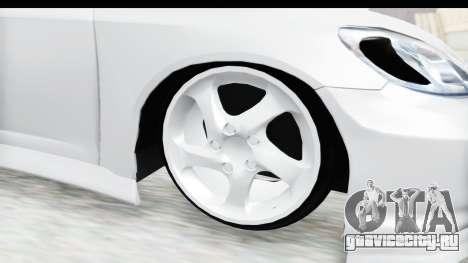 Honda Civic Vtec для GTA San Andreas вид сзади