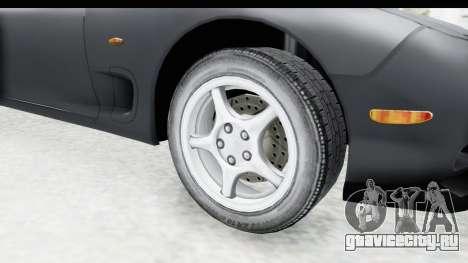 Mazda RX-7 4-doors Fastback для GTA San Andreas вид сзади
