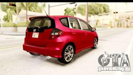 Honda Fit Sport 2009 для GTA San Andreas вид слева