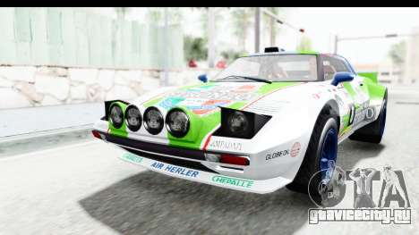 GTA 5 Lampadati Tropos Rallye No Headlights IVF для GTA San Andreas вид снизу