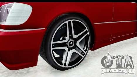 Mercedes-Benz W140 S600 AMG для GTA San Andreas вид сзади