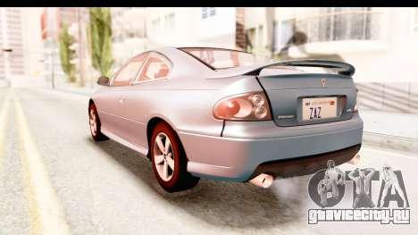 Pontiac GTO 2006 для GTA San Andreas вид справа