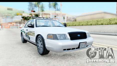 Ford Crown Victoria 2009 Southern Justice для GTA San Andreas вид справа