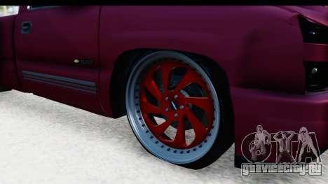 Chevrolet Silverado 2005 Low для GTA San Andreas вид сзади
