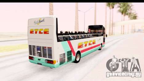 Bus Tours Dic Megadic 4x2 ETCE для GTA San Andreas вид сзади слева