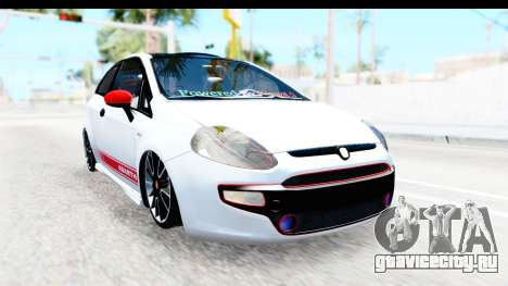 Fiat Punto Abarth для GTA San Andreas вид слева