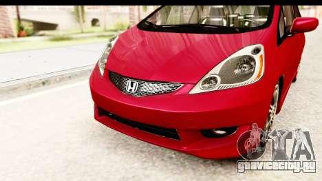 Honda Fit Sport 2009 для GTA San Andreas вид сверху
