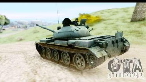T-62 Wood Camo v1 для GTA San Andreas вид слева