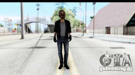 Payday 2 - Bodhi with Mask для GTA San Andreas второй скриншот