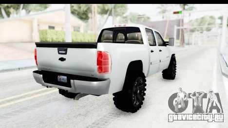 Chevrolet Silverado Duramax 2012 для GTA San Andreas вид сзади слева