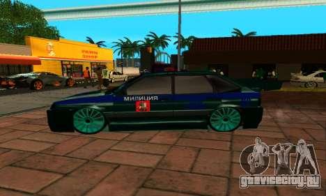 ВАЗ 2114 ДПС для GTA San Andreas вид слева