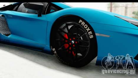 Lamborghini Aventador LP700-4 2012 для GTA San Andreas вид сзади