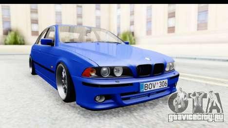 BMW 525i E39 M Tech для GTA San Andreas вид сзади слева