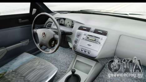 Honda Civic Vtec для GTA San Andreas вид изнутри