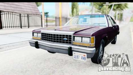 Ford LTD Crown Victoria 1987 для GTA San Andreas вид сзади слева