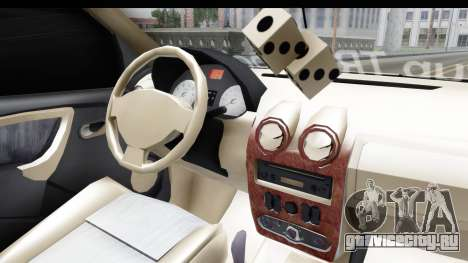 Dacia Logan Coil для GTA San Andreas вид изнутри
