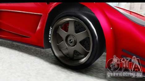 GTA 5 Progen Tyrus для GTA San Andreas вид сзади