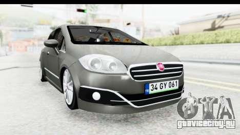 Fiat Linea 2015 v2 Wheels для GTA San Andreas вид справа
