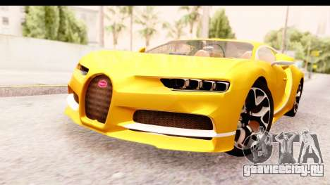 Bugatti Chiron 2017 v2.0 Updated для GTA San Andreas вид справа