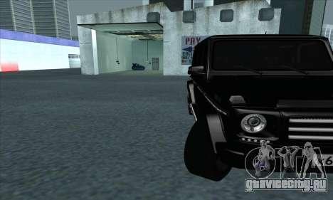 Mercedes-Benz G55 для GTA San Andreas вид изнутри