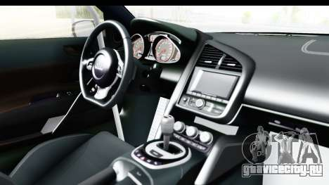 Audi R8 V10 Plus 5.2 FSi 2013 LB Perfomance для GTA San Andreas вид изнутри