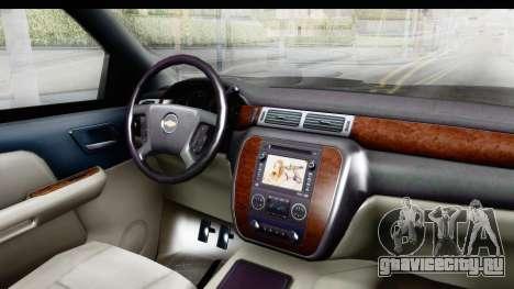 Chevrolet Silverado Duramax 2012 для GTA San Andreas вид изнутри