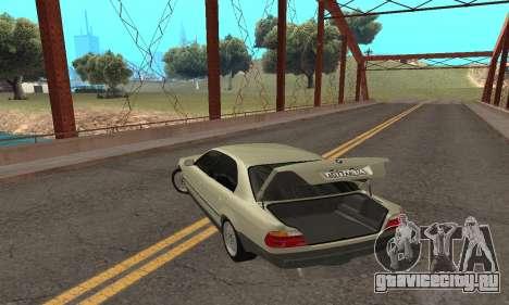 BMW 730 для GTA San Andreas вид сверху