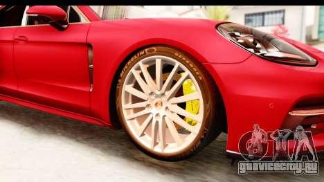 Porsche Panamera 4S 2017 v5 для GTA San Andreas вид сзади