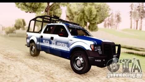 Ford F-150 Policia Federal для GTA San Andreas вид справа