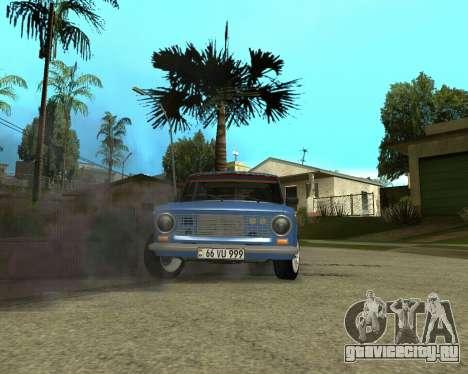 ВАЗ 2101 Армения для GTA San Andreas вид изнутри