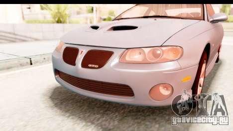 Pontiac GTO 2006 для GTA San Andreas вид сбоку