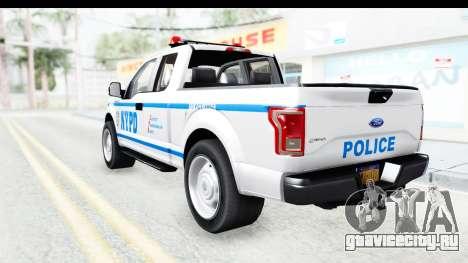 Ford F-150 Police New York для GTA San Andreas вид слева