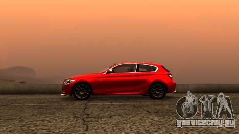 BMW M135i ISlaite Edition для GTA San Andreas вид сзади слева