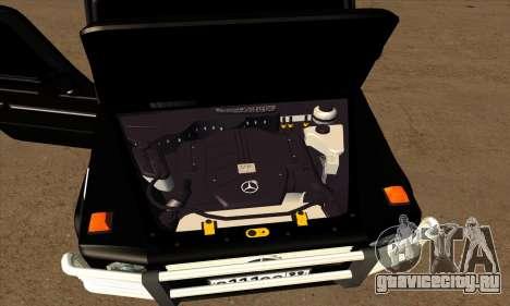 1999 Mercedes-Benz G55 AMG Brabus для GTA San Andreas вид снизу