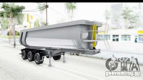 Trailer Volvo Dumper для GTA San Andreas вид сзади слева