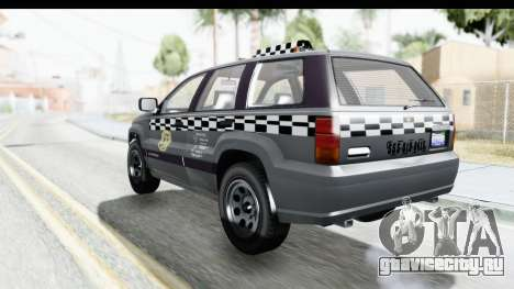GTA 5 Canis Seminole Taxi для GTA San Andreas вид слева