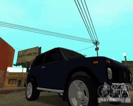 Niva 2121 Armenian для GTA San Andreas вид сзади