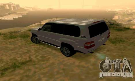 Toyota Land Cruiser 100 для GTA San Andreas вид сзади слева