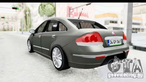 Fiat Linea 2015 v2 Wheels для GTA San Andreas вид слева