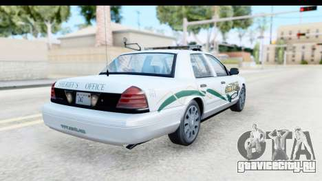 Ford Crown Victoria 2009 Southern Justice для GTA San Andreas вид сзади слева