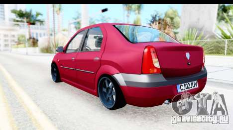 Dacia Logan Editie для GTA San Andreas вид слева