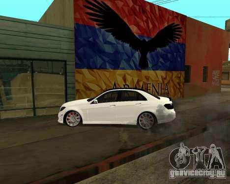 Mercedes-Benz E250 Armenian для GTA San Andreas двигатель