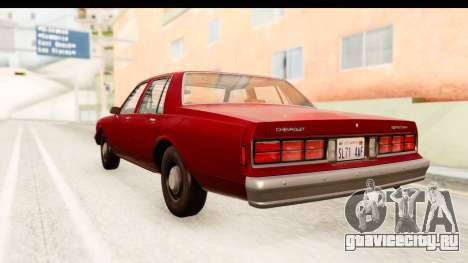 Chevrolet Caprice 1987 для GTA San Andreas вид сзади слева