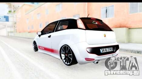 Fiat Punto Abarth для GTA San Andreas вид справа