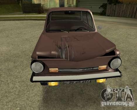 ЗАЗ 968М Армения для GTA San Andreas вид сверху