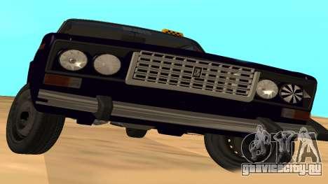 Ваз-2106 для GVR ранняя версия для GTA San Andreas вид сзади