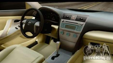 Toyota Camry GL 2011 для GTA San Andreas вид изнутри